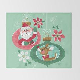 Merry Christmas from Santa & Rudolph Throw Blanket