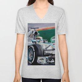 "Lewis Hamilton ""Focus On Lewis"" Unisex V-Neck"