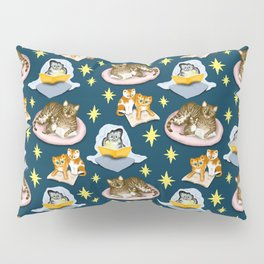 Cats Love to Read at Night Pillow Sham