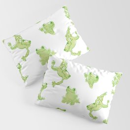 Froggy Frog large green Pillow Sham