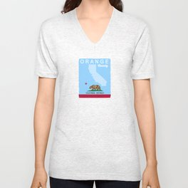 Orange County - California. Unisex V-Neck