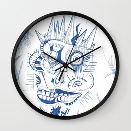 The Martyr and His Broken Crown Wall Clock