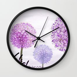 allium flowers Wall Clock