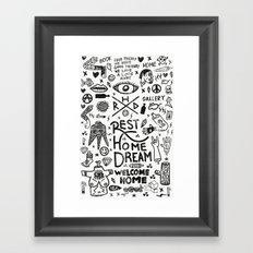 REST HOME DREAM Framed Art Print