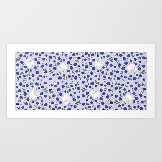 Blueberry Tea Art Print