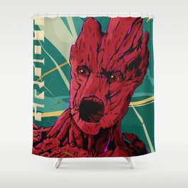 Groot Guardians of the galaxy Shower Curtain