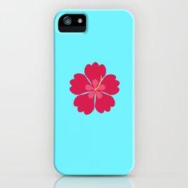 Colourful hibiskus flower iPhone Case