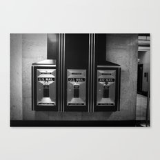 Mailboxes Black and White Original Photo Canvas Print