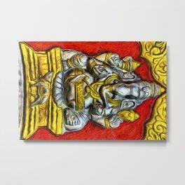 Indian Temple Elephant Van Goth Metal Print