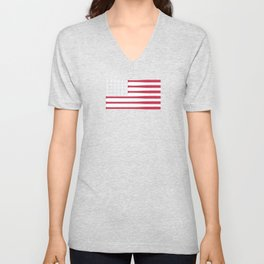 USA Baseball Flag Unisex V-Neck
