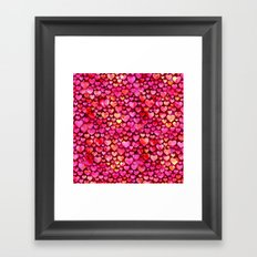 Heart Pattern 03 Framed Art Print
