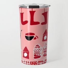 winter gear pink Travel Mug