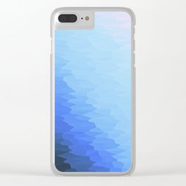 Blue Texture Ombre Clear iPhone Case