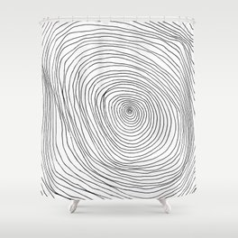 Spiral Rings Shower Curtain
