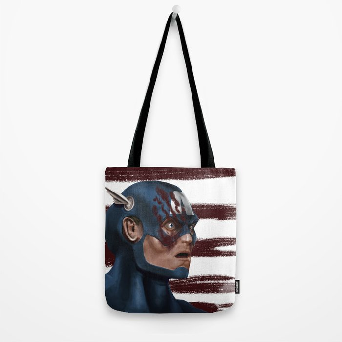 THE FACE COLLECTION - CAPTAIN AMERICA Tote Bag