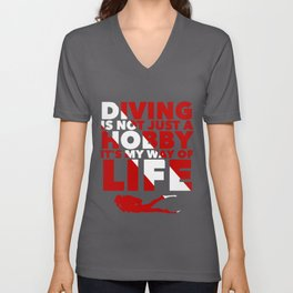 Scuba diving is my way of life Unisex V-Neck
