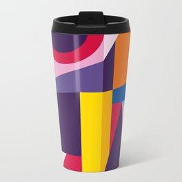 Abstract modern geometric background. Composition 2 Metal Travel Mug