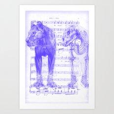 Roar (white and purple) Art Print