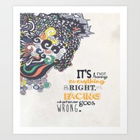 motivational Art Prints featuring Quote - Motivational  by Katie Melrose