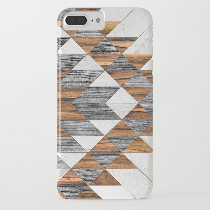 urban tribal pattern 12 - aztec - wood iphone case