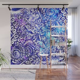 Octopus Tentacles Cool Blues Wall Mural