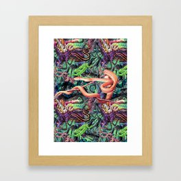 WICKED SNAKES Framed Art Print