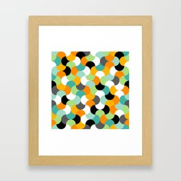 Interlocking shapes pattern Framed Art Print