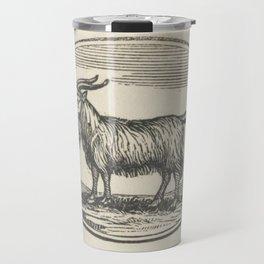 Goat Woodcut Travel Mug