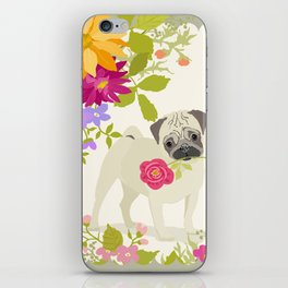 Love U More - Pug iPhone Skin
