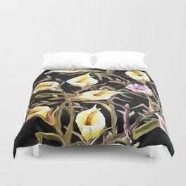 Arum Lily Artistic Floral Design Duvet Cover