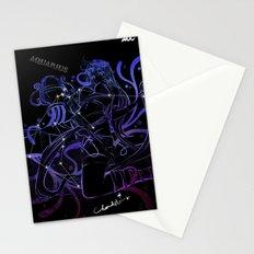 Aquarius Black Sky Stationery Cards