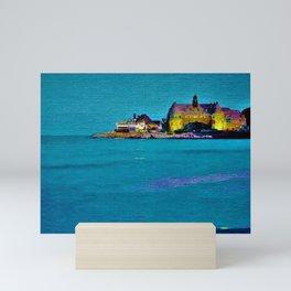 Narragansett Towers, Rhode Island Landscape by Jeanpaul Ferro Mini Art Print