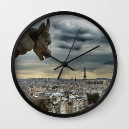 View on the Eiffel Tower Wall Clock