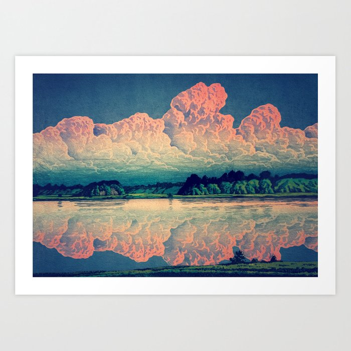 Admiring the Clouds in Kono Kunstdrucke