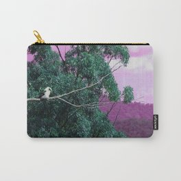 Kookaburra in Green Carry-All Pouch