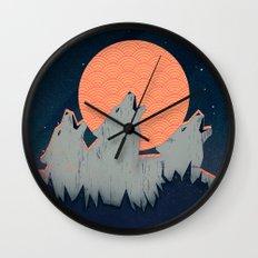 Howling Moon Wall Clock