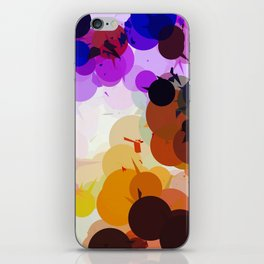 geometric circle and triangle pattern abstract in purple brown blue iPhone Skin