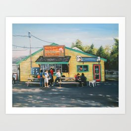 John's Ice Cream Art Print