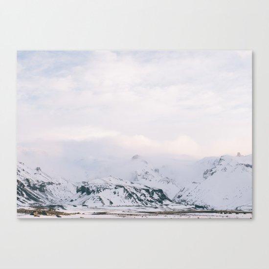 Iceland | landscape - photography - print - travel - mountains - color - photo Canvas Print