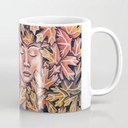lady in leaves Coffee Mug