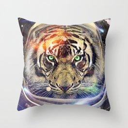 Astro Tiger Throw Pillow