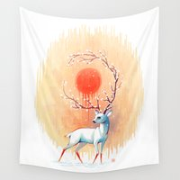 spirit Wall Tapestries featuring Spring Spirit by Freeminds