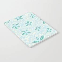 Sea Blue Lily Flower Notebook