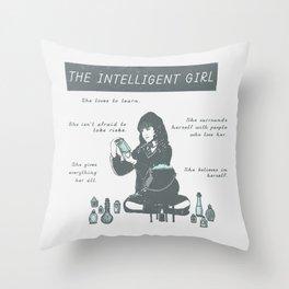Hermione Granger / The Intelligent Girl Throw Pillow