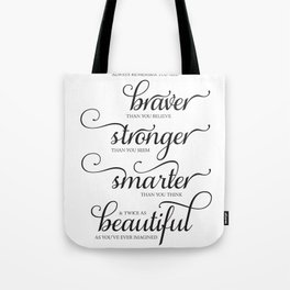 Always Remember - Printable art wall decor, Inspirational quote Tote Bag