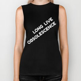 Long Live Obsolescence: White Biker Tank