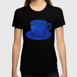 Blue Watercolour Tea Cup And Saucer  T-shirt