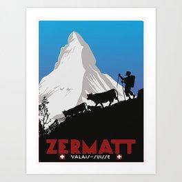 Zermatt,Valais,Suisse Art Print