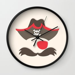 My little red Pirate Wall Clock