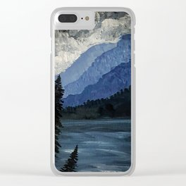 Stormy Straits Clear iPhone Case